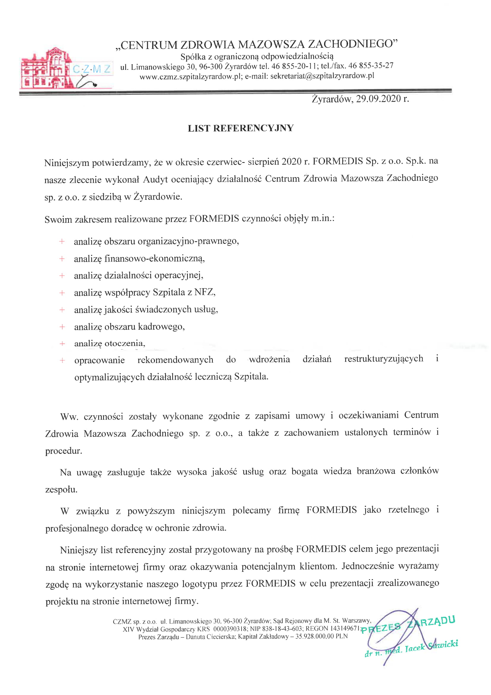 Referencje CZMZ Żyrardów-1